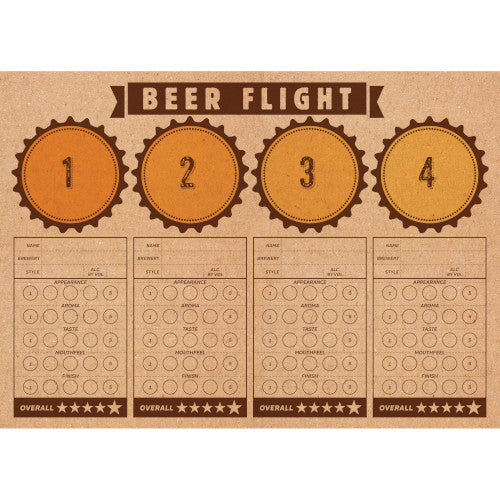 Cheers & Beers Beer Flight Paper Placemats (24)