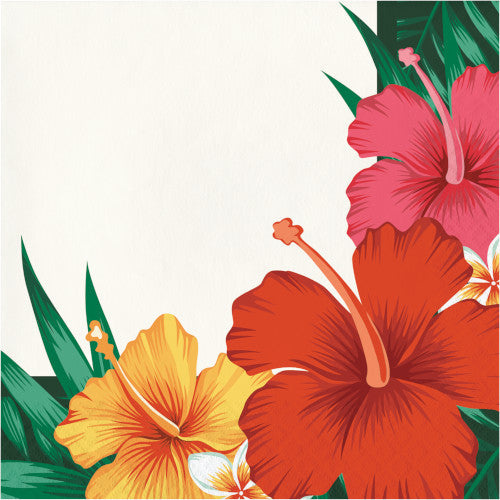 Luau Party Hibiscus Flower Napkin (16)