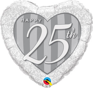 "Happy 25th Anniversary 18"" Balloon"