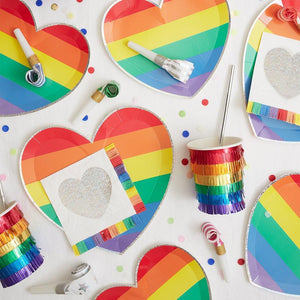Rainbow Heart Large Plates (8)