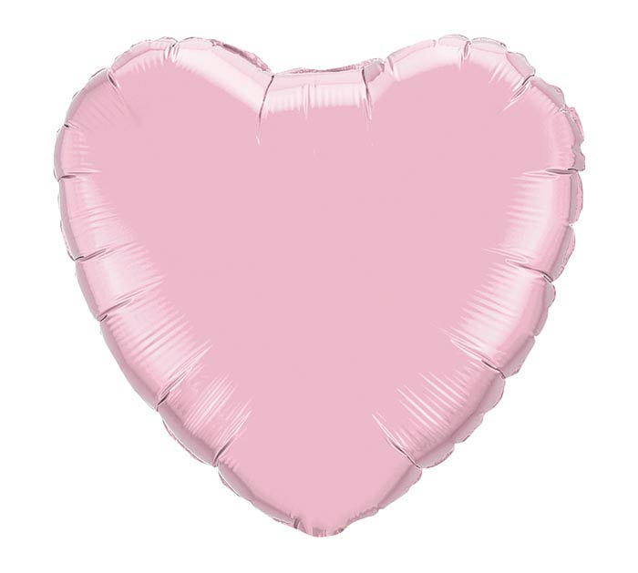 Solid Pink Pearl Heart 18