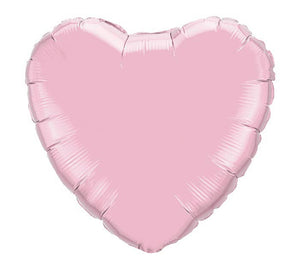 "Solid Pink Pearl Heart 18"" Balloon"