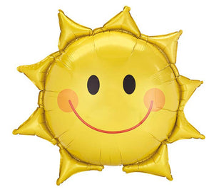 "27"" Smiling Sun Shaped Balloon"
