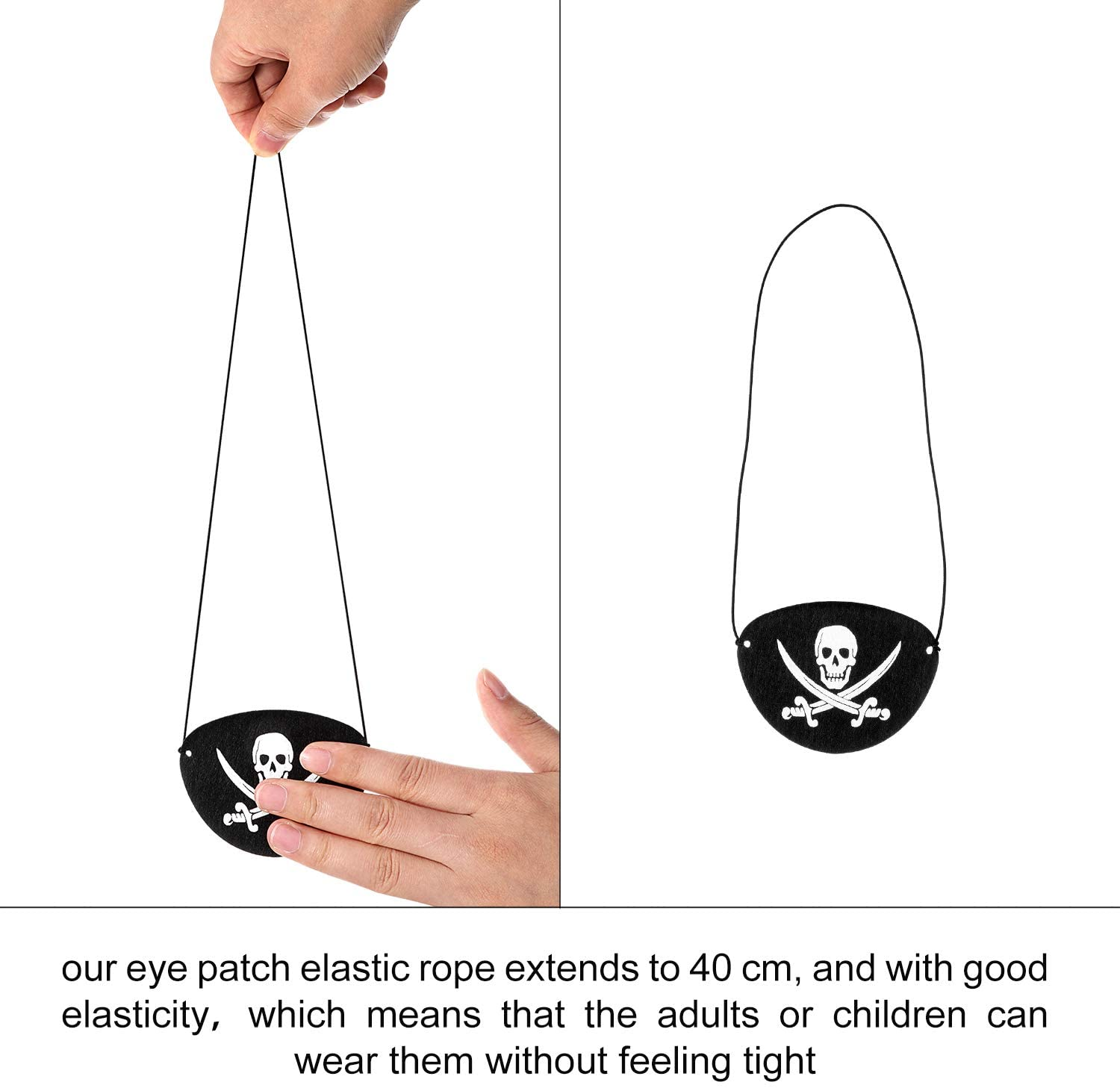 Pirate Felt Eye Patches (8)
