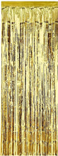 Load image into Gallery viewer, Gold Foil Fringe Curtain Backdrop