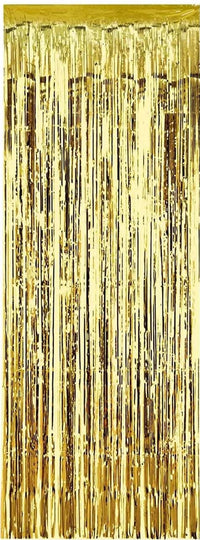 Gold Foil Fringe Curtain Backdrop