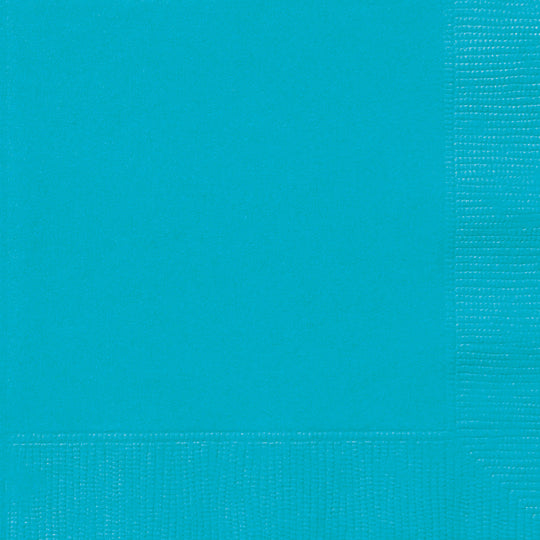 Teal Paper Lunch Napkins (20)