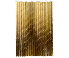 Load image into Gallery viewer, Gold Paper Straws (18)