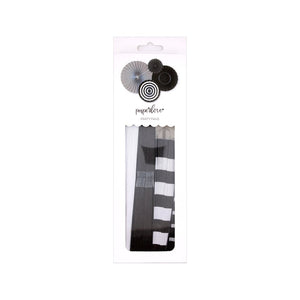 Paper Love Black Onyx Party Paper Fans