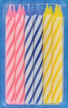 Load image into Gallery viewer, 1 x Colorful Spiral Birthday Candles (18ct)