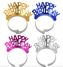 Load image into Gallery viewer, 1 x Metallic Party Tiaras (will include either a gold, silver, pink or blue tiara)