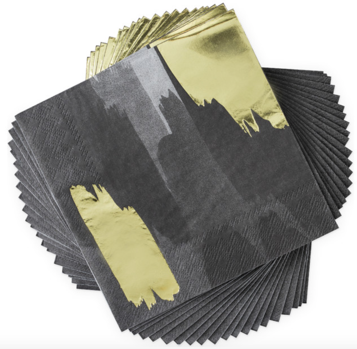 Brushstroke Noir Dinner Napkin (20)