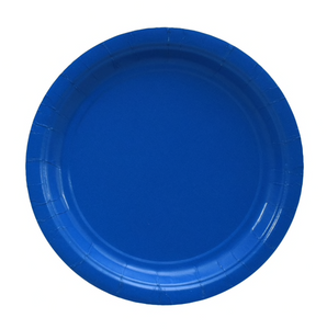Blue Paper Large Plates 9 inch (20)