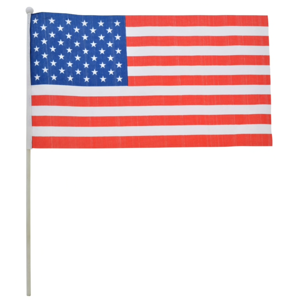 Patriotic Mini American Flags (3 Pack)