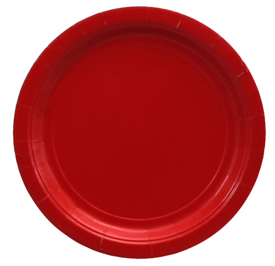 Red Paper Large Plates 9 inch (20)