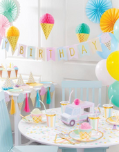 Load image into Gallery viewer, Ice Cream Party Happy Birthday Banner