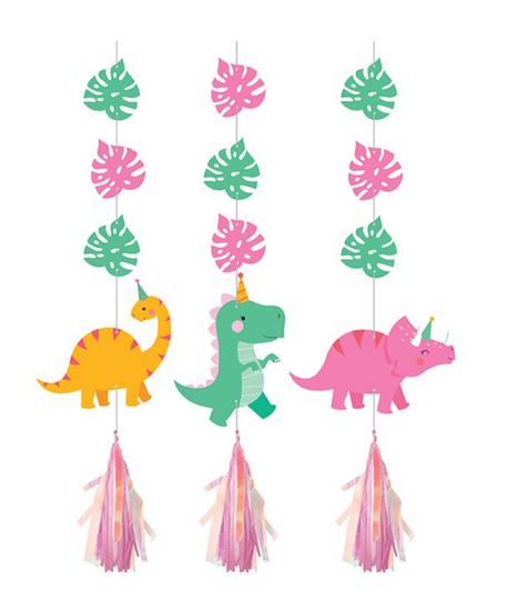 Dino Party Hanging Cutout Tassels