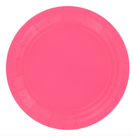 Candy Pink Large Paper Plates 9 inch (20)