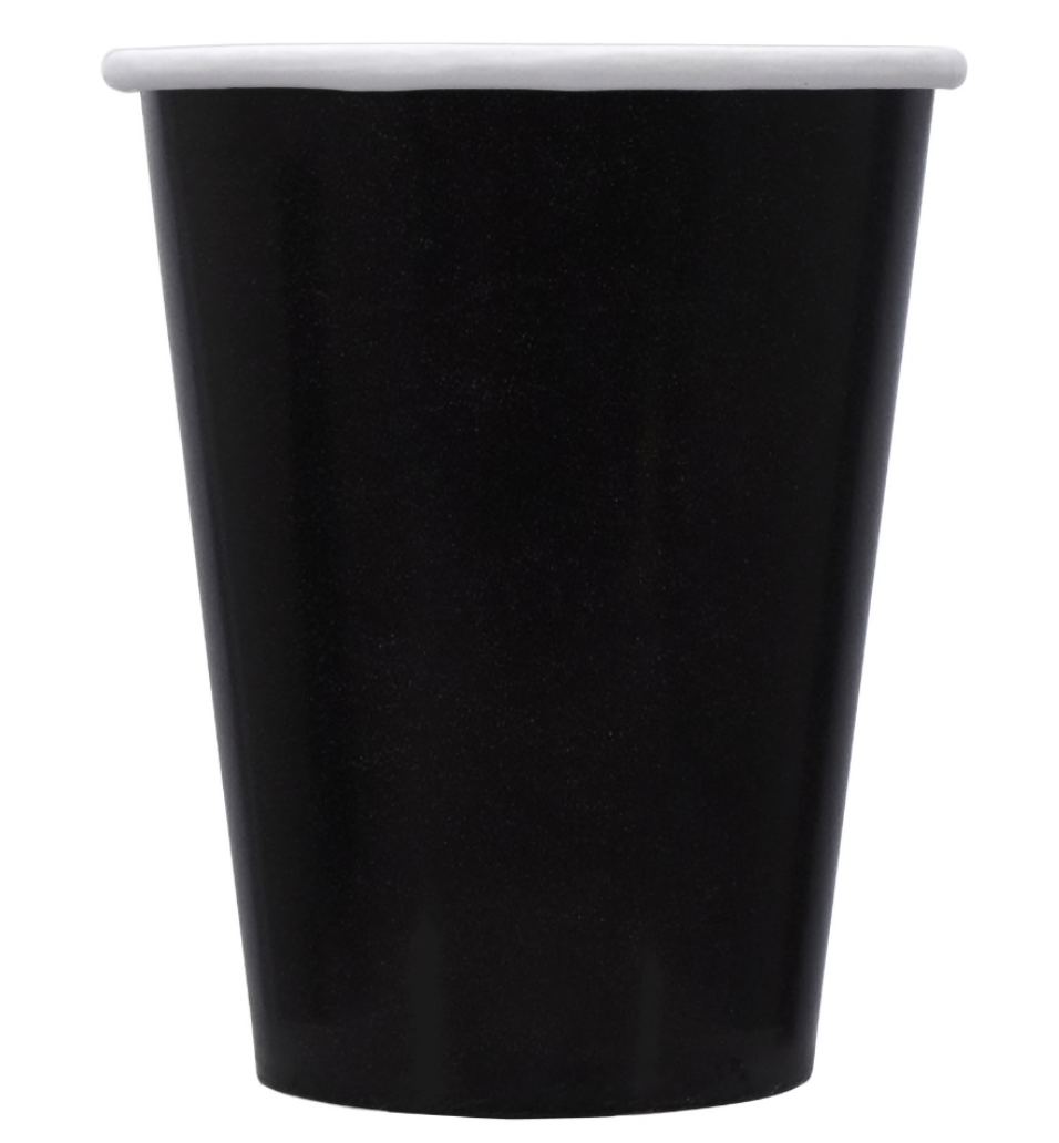 Black 9oz Paper Party Cups (12)