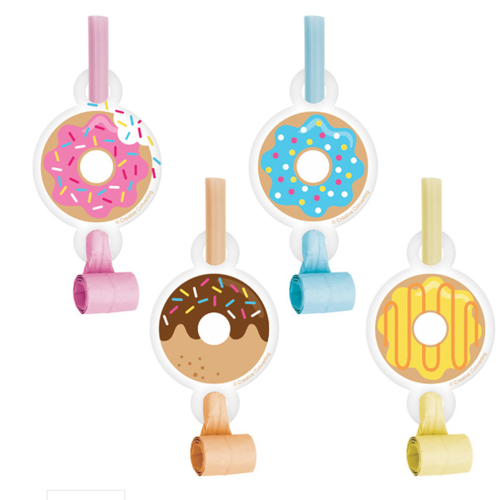 Donut Party Blowers (8)