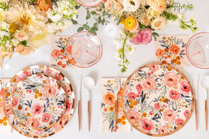 Blush Bouquet Wavy Dinner Plate (8)