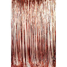 Load image into Gallery viewer, Rose Gold Foil Fringe Curtain Backdrop