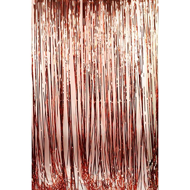 Rose Gold Foil Fringe Curtain Backdrop