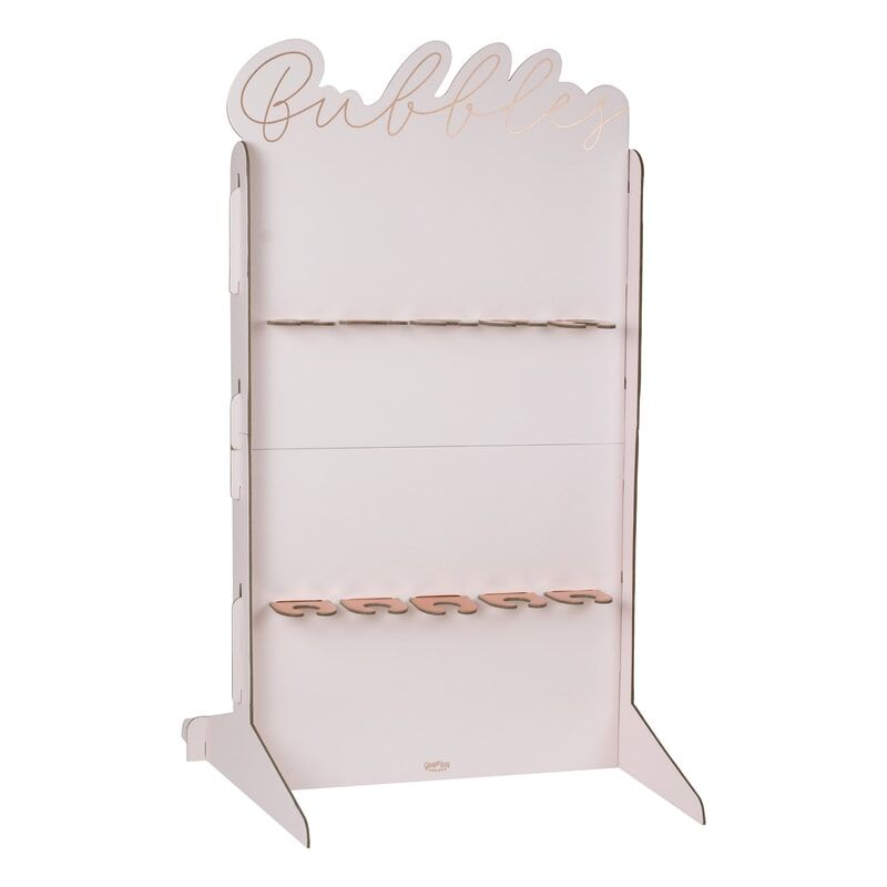 Rose Gold Foiled & Blush Prosecco Champagne Wall