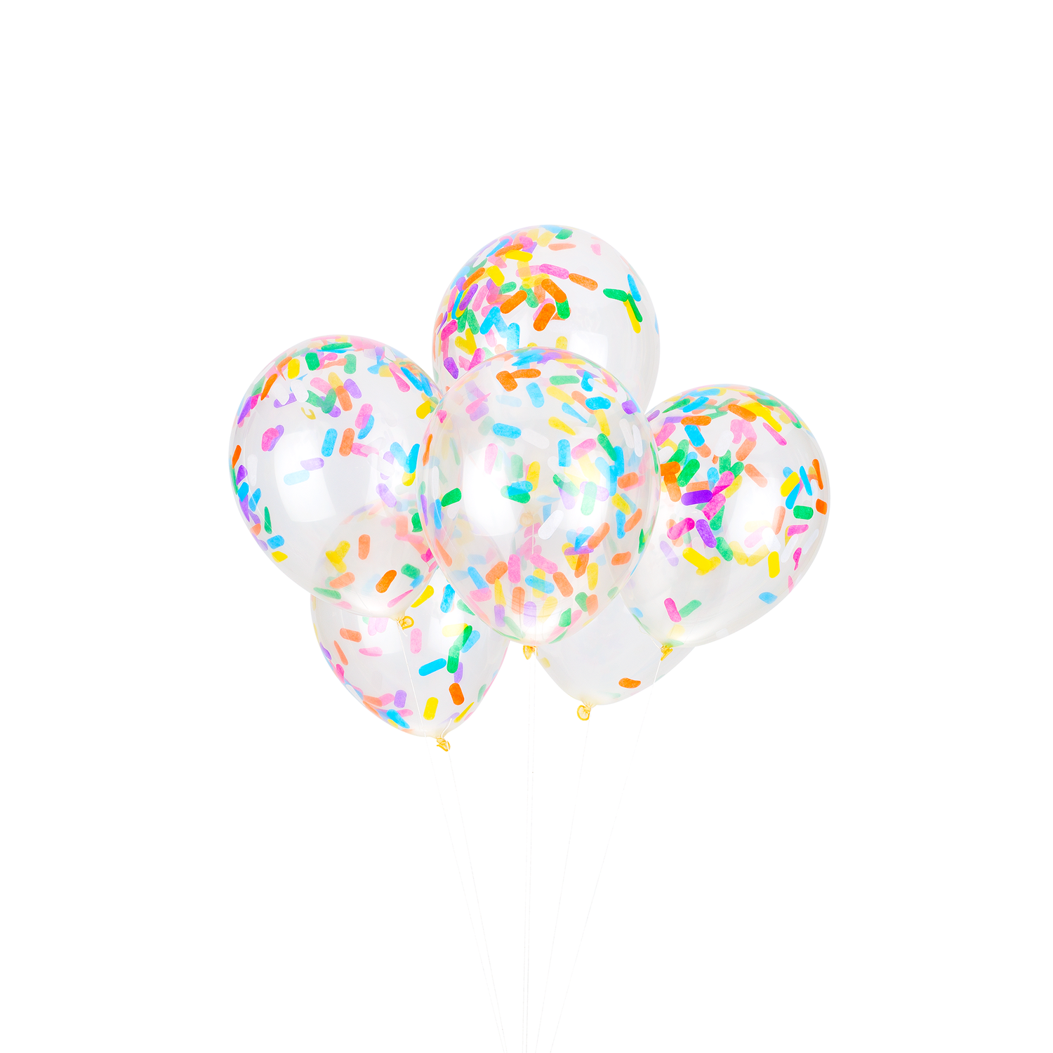 Ice Cream Sprinkles Confetti Balloons (Pack of 6)