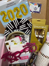 Load image into Gallery viewer, Quarantine Grad Party in a Box with Pink Plastic Glasses