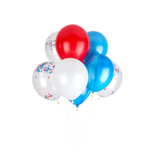 Load image into Gallery viewer, 4th of July Patriotic Confetti Balloons (Pack of 12)