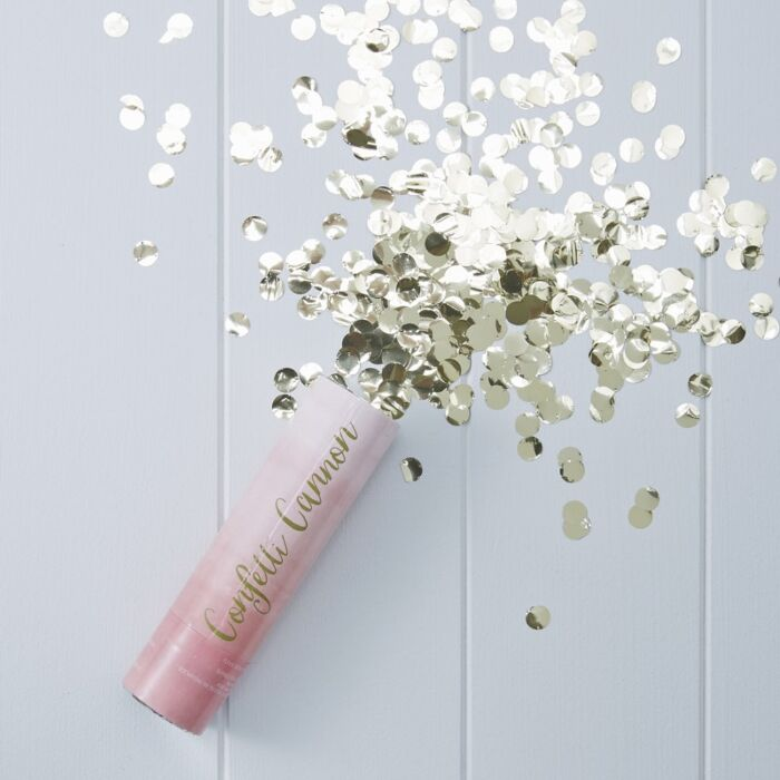 Pink Ombre Compressed Confetti Cannon