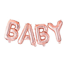 "Load image into Gallery viewer, Rose Gold ""BABY"" Balloon Bunting"