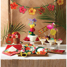 Load image into Gallery viewer, Luau Party Hibiscus Flower Large Plates (8)