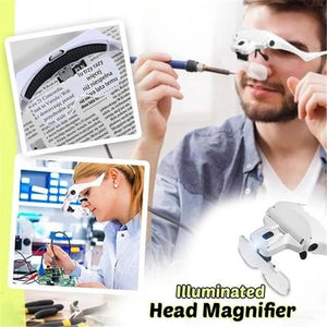 ZoomVision™️ Illuminated Head Magnifier