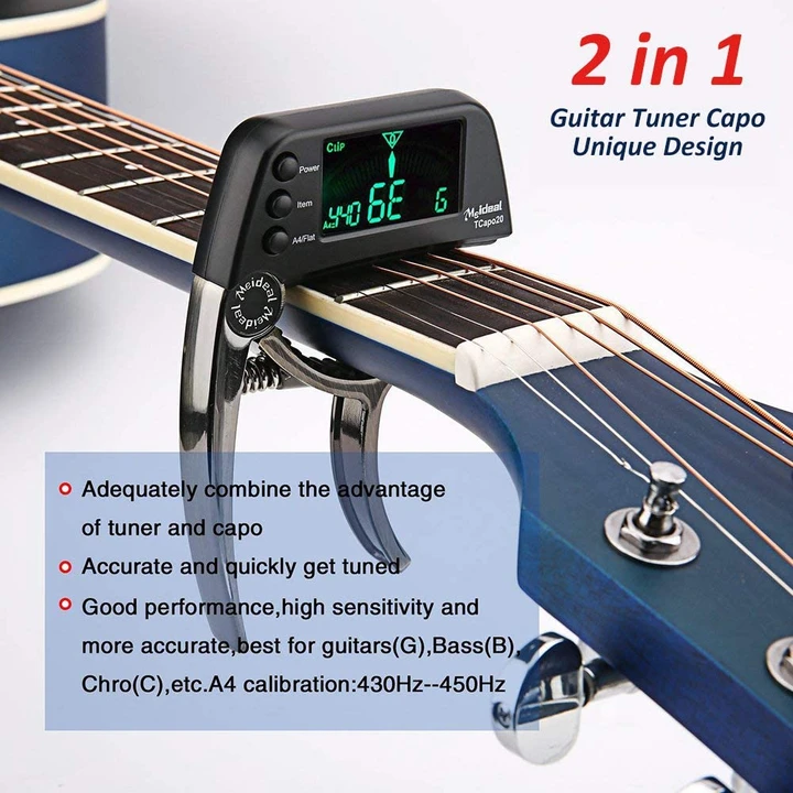 Digital Guitar Capo and Tuner