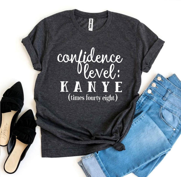 Confidence Level: Kanye Times Fourty Eight T-shirt - malaygauri
