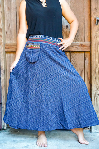 Cotton Tribal Boho Skirt, Hippie Skirl, Gypsy - malaygauri