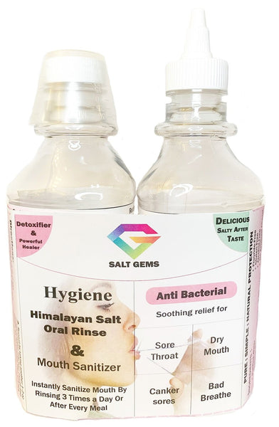 Giggly Gargles 2 Pack Hygiene Salt Oral Rinse & Mouth Sanitizer - malaygauri