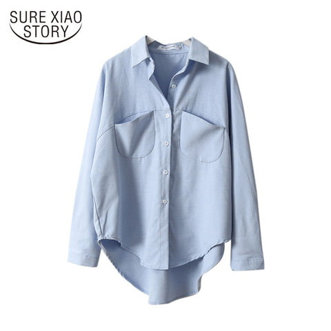 Vintage Women Shirts Blusas Roupa 2019 Spring Women Summer Blouse Korean Long Sleeve Womens Tops and Blouses Female Tops 6658 50 - malaygauri
