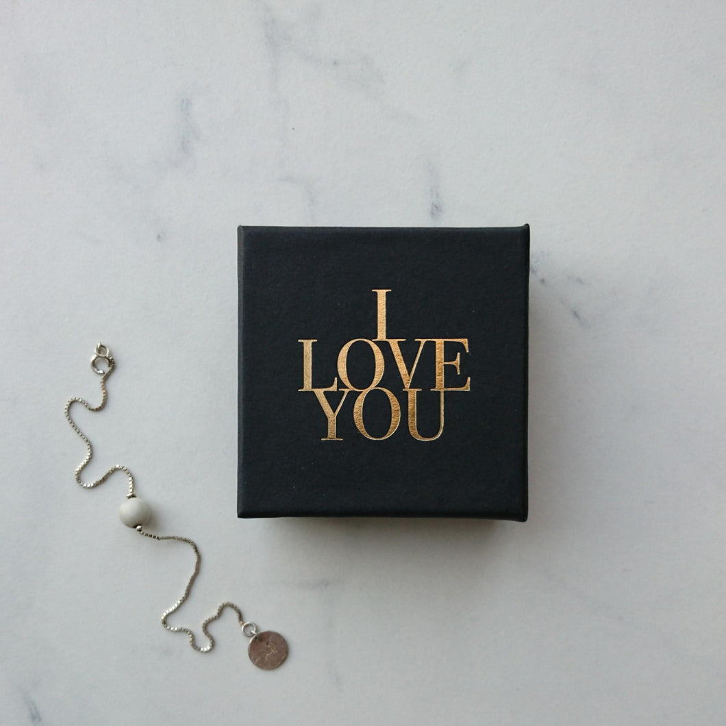I Love You guld, 65x65x25 mm