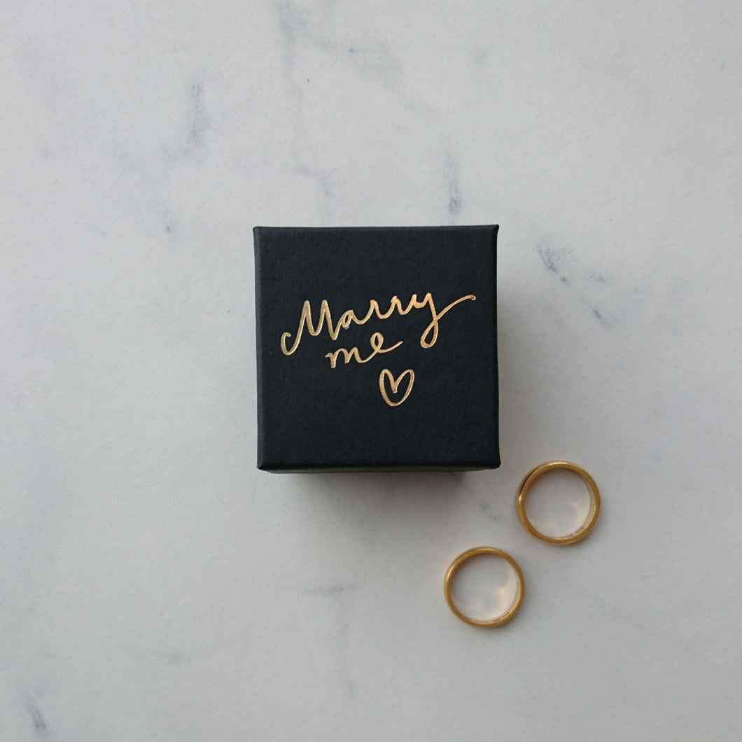 Marry Me guld, 50x50x32 mm