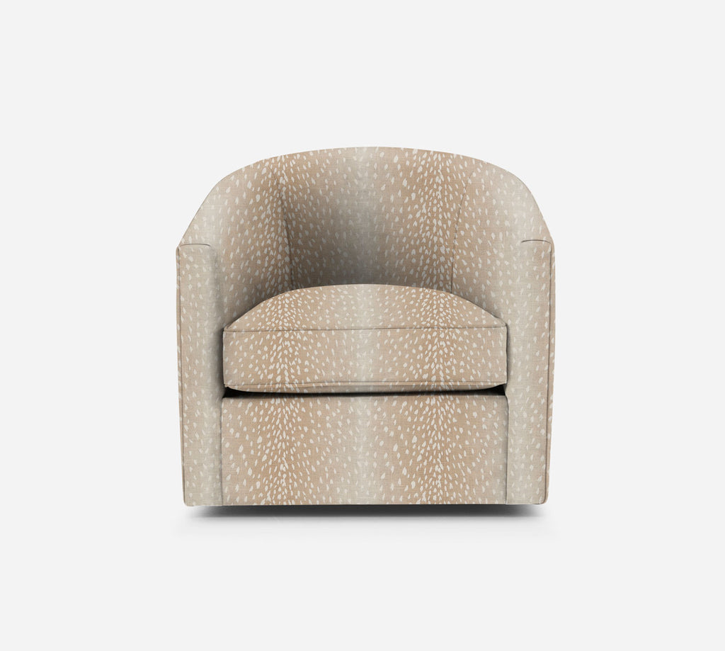 Barrel Swivel Chair - Animal Instinct - BLUSH