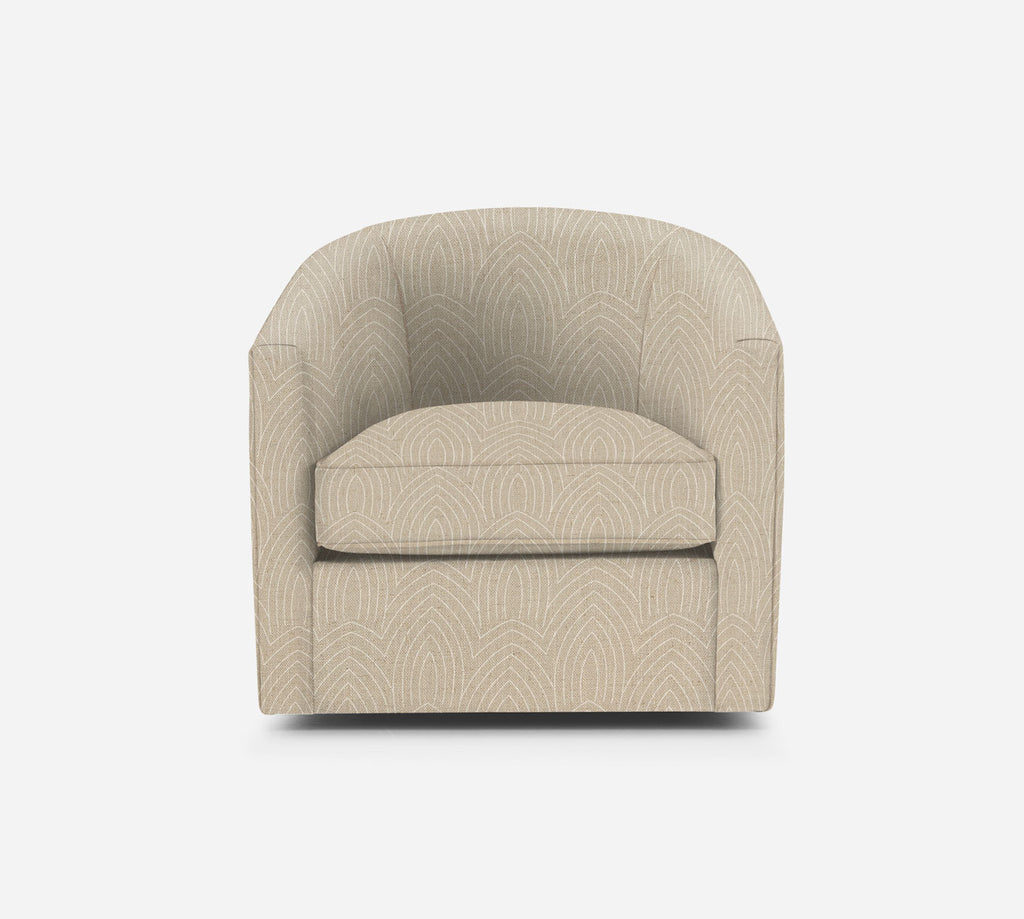 Barrel Swivel Chair - Cathedral - LINEN