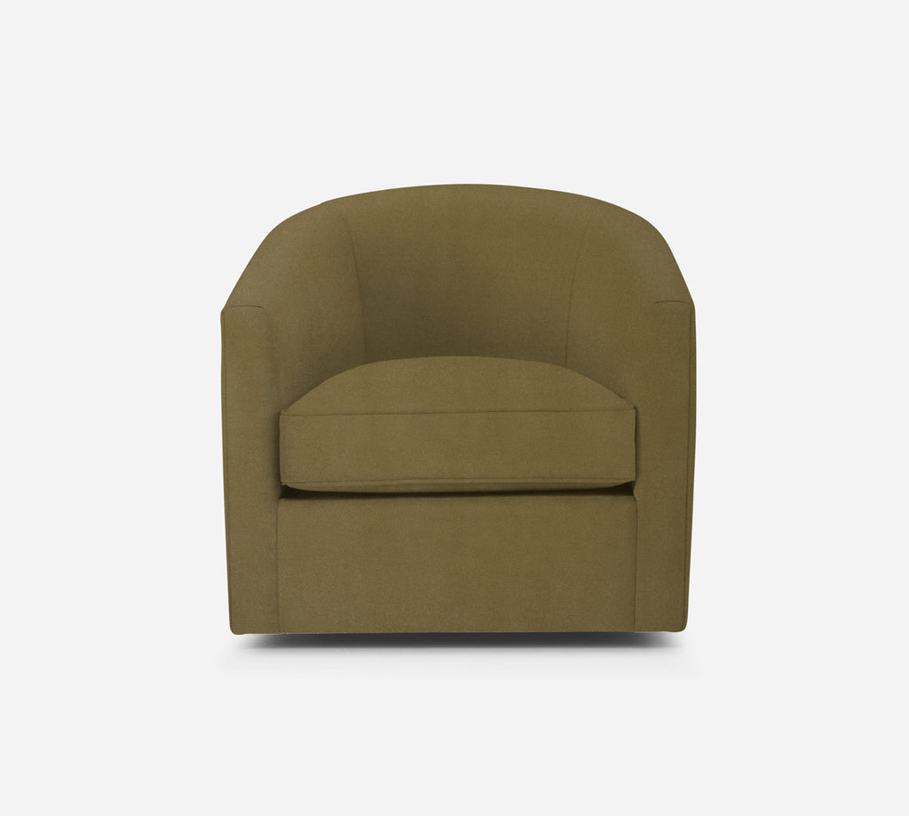 Barrel Swivel Chair - Modern Velvet - ALOE