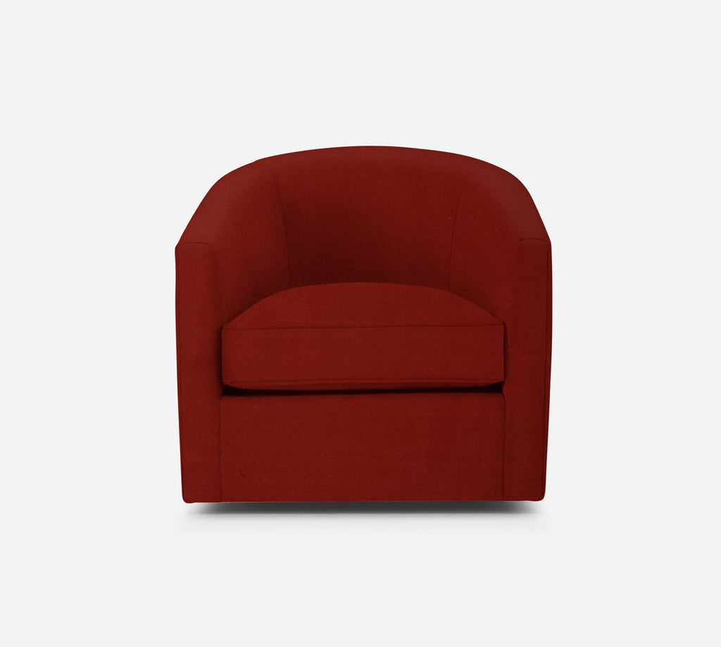 Barrel Swivel Chair - Modern Velvet - CAYENNE