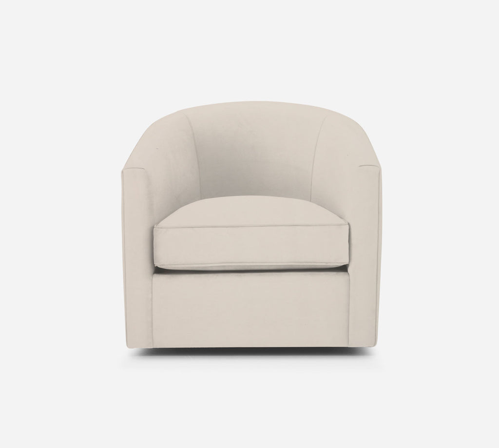 Barrel Swivel Chair - Modern Velvet - IVORY