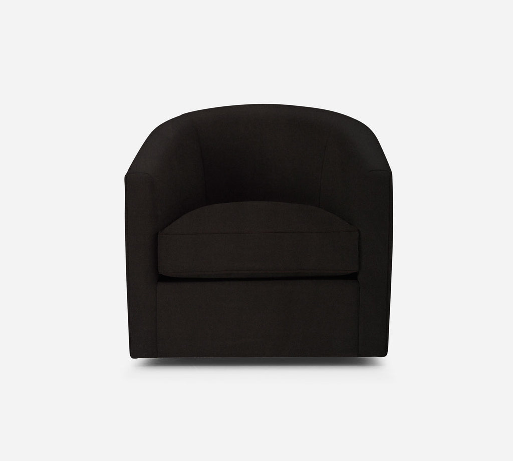 Barrel Swivel Chair - Modern Velvet - MINK