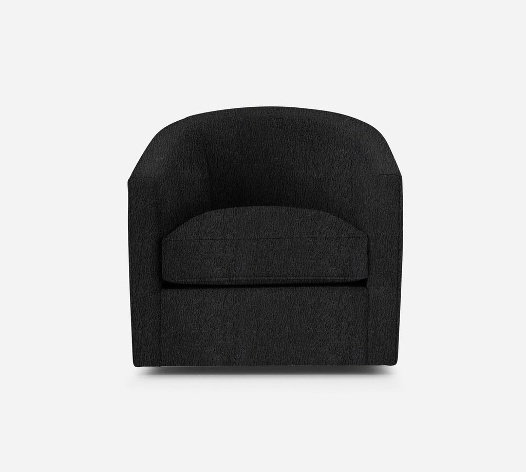 Barrel Swivel Chair - Sheepskin - CHARCOAL
