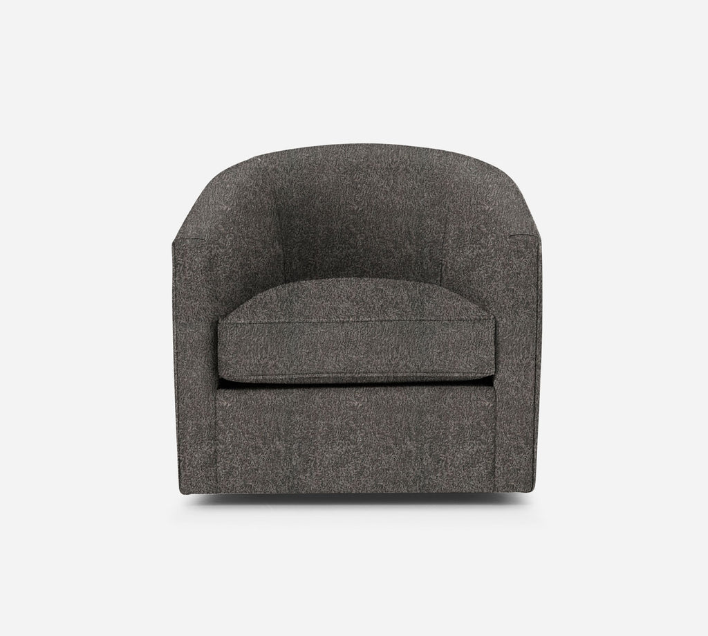 Barrel Swivel Chair - Sheepskin - GREY